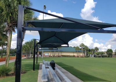 Abacoa complex shaded bleachers
