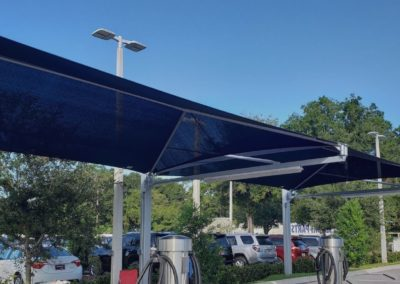 Cantilevered Shade Structure at Car wash