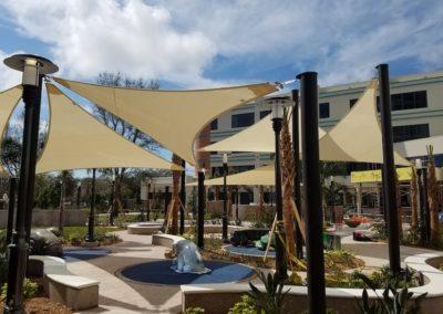 Golisano hospital shade sails