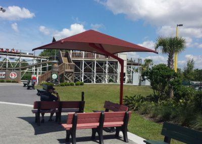 Seating Center Post Shade Umbrella