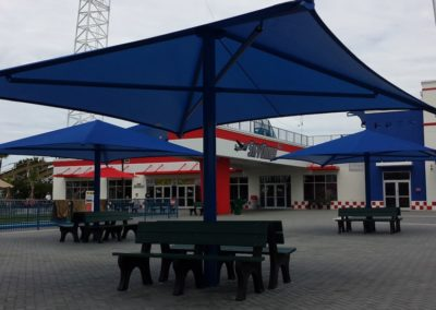Seating Center Post Shade Umbrella