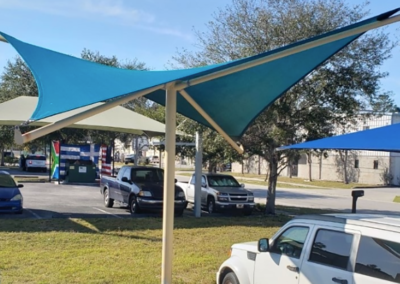 Custom Parking Lot Shade Sails