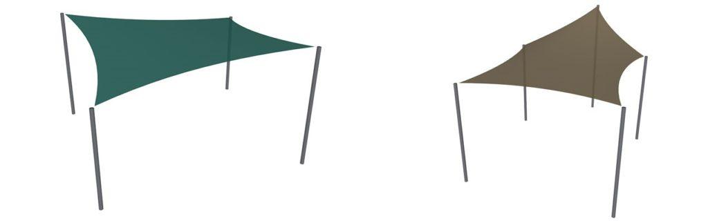 shade sail configurations