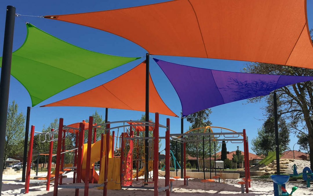 shades covering a kids playground